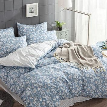 Allover Flower Print Sheet Set -SheIn(Sheinside)