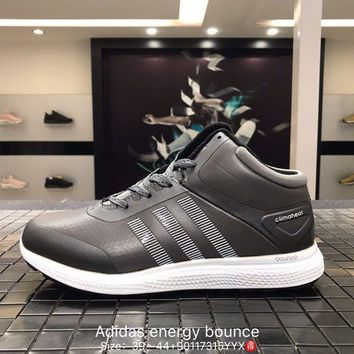 Adidas energy bounce leather breathable grey Fashion Casual Sports Shoes 90117315YYX Best Goods