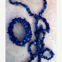 BLUE Beauty l Lapis necklace & Bracelet set