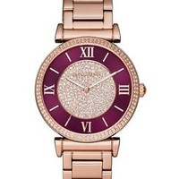 Michael Kors MK3412 Rose Gold & Crimson Bracelet Ladies Watch