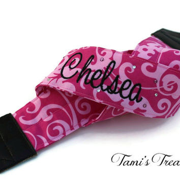 Personalized Camera Strap, Pink Camera Strap, DSLR Camera Strap, Canon, Nikon, Embroidered Camera Strap