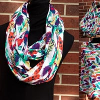 Feather Infinity Scarf, Nursing Poncho and Car Seat Cover