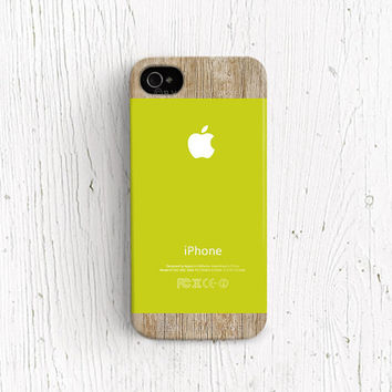 Apple logo iPhone 4s case Green iPhone 4 case apple logo iPhone 5c case Green iPhone 5 case new iPhone 5s case spring wood print c321