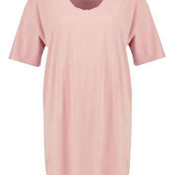 Plus Amber Choker T-Shirt Dress | Boohoo