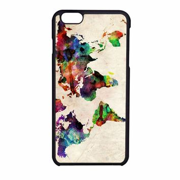 World Map Urban Watercolor iPhone 6S Case