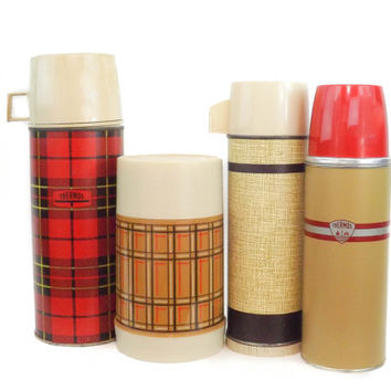 Vintage Thermos Collection Thermos Lot Thermos Variety Thermos Red Thermos Metal Thermos