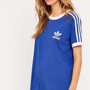 adidas Three Stripes Blue Tee - Urban Outfitters