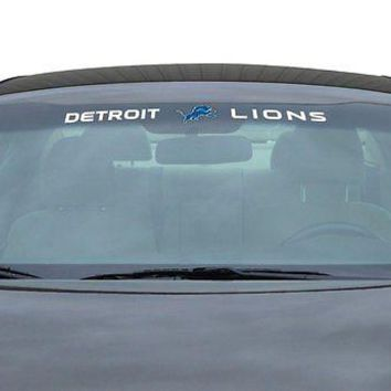 Detroit Lions NFL Licensed Auto Car Truck Windshield Decal