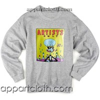 Artist only squidward Unisex Sweatshirts