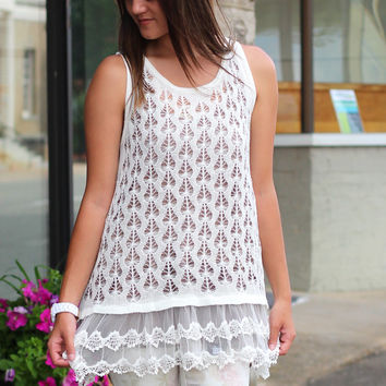 All About the Lace Tank {Ivory}