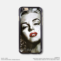 Oil painting Marilyn Monroe iPhone Case Black Hard case 055