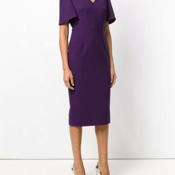 ONETOW Roland Mouret Fitted Midi Dress - Farfetch