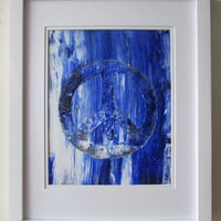 Blue Peace 8 X 10 is an original abstract acrylic painting by Ryan O'Neill.