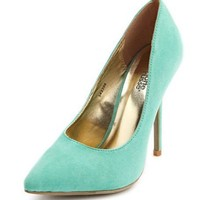 Sueded Pointed Toe Pump: Charlotte Russe