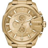 Men's DIESEL 'Mega Chief' Chronograph Watch, 51mm - Gold