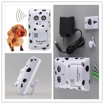 Healthy Safe Dog STOP Bark Trainer Anti Barking Off Shock Ultrasonic Wall Mount Hanger