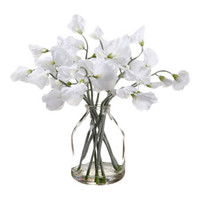 Silk Flower Depot Sweetpea in Glass Vase