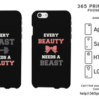 Every Beauty Needs a Beast Couples Phone Cases - 365 Printing Inc