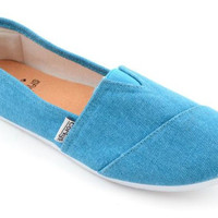 Corkys Sues Turquoise Slip-On Shoes