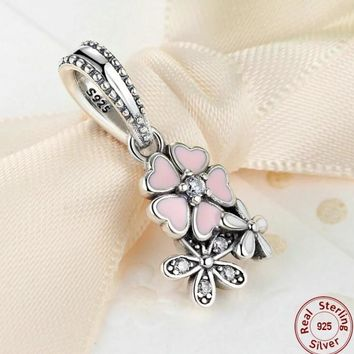 Pink White and Silver