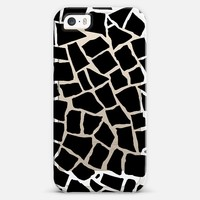 Mosaic Zoom Black Transparent iPhone 5s case by Project M | Casetify