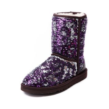 Womens UGG® Classic Short Sequin Boot, Purple | Journeys Shoes