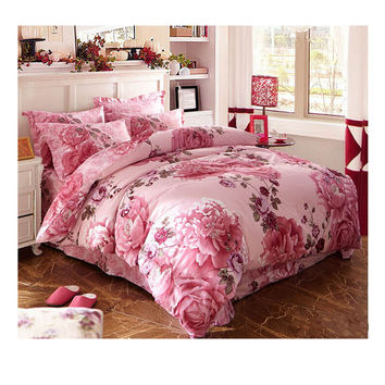 Cotton Active floral printing Quilt Duvet Sheet Cover Sets 2.0M/2.2M Bed Size 21