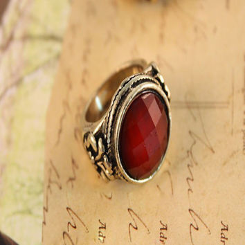 Role Ofing Tasted Round Big Red Gem More Aspects Restoring Ancient Ways Of Carve Patterns Or Designs On Woodwork Ring R470