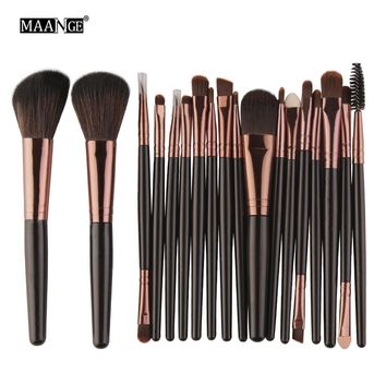 MAANGE 15/18pcs Maquiagem Makeup Brushes Set Comestic Powder Foundation Blush Eyeshadow Eyeliner Lip Beauty Make up Brush Tools