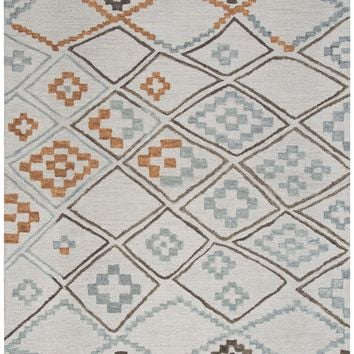 Rizzy Home Lancaster LS375A Gray Geometric/Moroccan Area Rug
