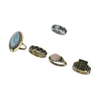Engraved Stone Ring Pack
