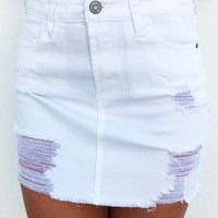 It's You Babe Skirt: White
