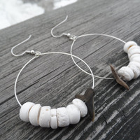 Shark Tooth Puka Shell Earrings