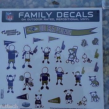 NFL Auto Car Trucks Family Decals Large ( Pick Teams ) - 25 Multi Pcs