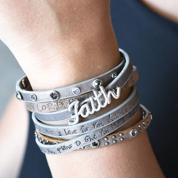 Bible Verse Wrapped Leather Bracelets | Jeremiah 29:11