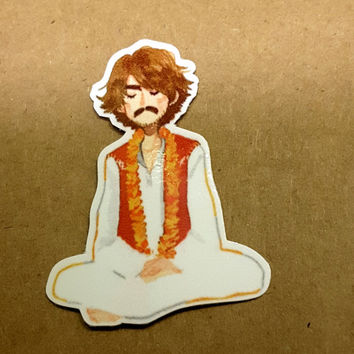 "George Harrison Sticker 2"" x 1.5"""