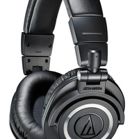 Audio-Technica ATH-M50x Closed-Back Professional Dynamic Studio Monitor Headphones - Black