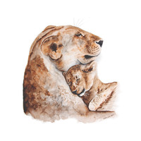 Mom and Baby Lion Profile