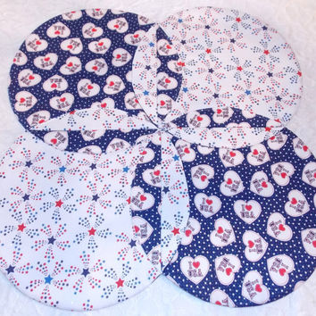 Independence and Memorial Day Patriotic Table Topper Runner Quilt and Centerpiece