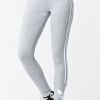 Adidas 3 Stripe Leggings - Womens Pants - Medium Gray - Large