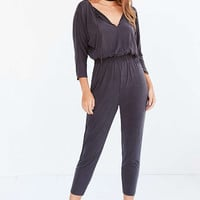 Silence + Noise Cupro Knit Jumpsuit - Urban Outfitters
