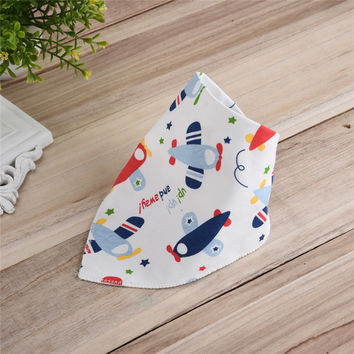 Soft Baby Bibs Cotton Saliva Towel Triangel Print Bandana Toddler Newborn Scarf Baberos Bebes Bavoir Infant Burp Cloth
