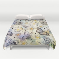 Butterfly In the Sky Duvet Cover by Jenndalyn