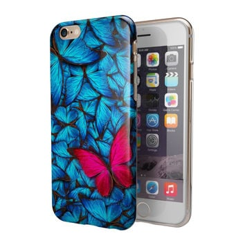Contrasting Butterfly 2-Piece Hybrid INK-Fuzed Case for the iPhone 6/6s or 6/6s Plus