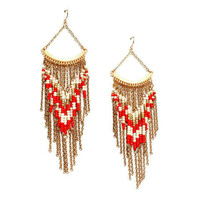 Pree Brulee - Navajo Fringe Earrings
