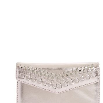 Rebecca Minkoff Leather Whipstitch iPhone 7 Wristlet | Nordstrom