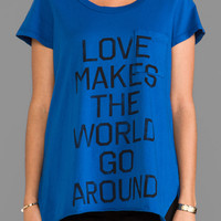 Rebel Yell Love Pocket Tunic in Blue
