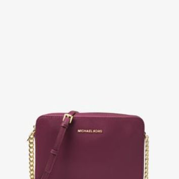 Jet Set Travel Large Patent Leather Crossbody | Michael Kors