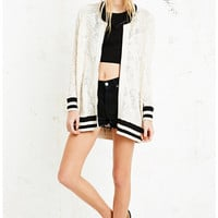 Free People Team Lace Varsity Jacket - Urban Outfitters