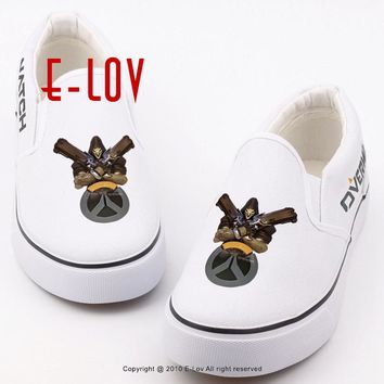 E-LOV Cool Men Boys Casual Loafers Shoes Printed Hot Game Canvas Shoes Unisex Slip-on Lazy Shoes